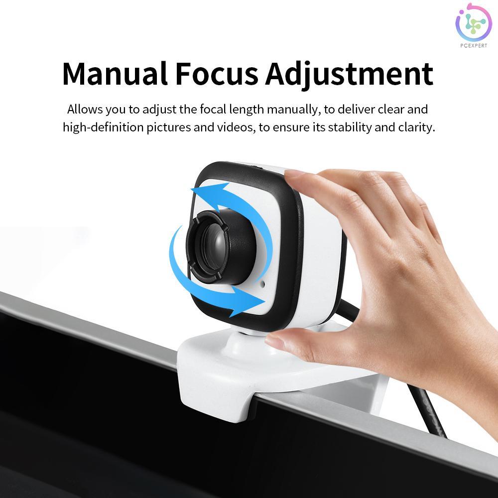 Webcam Hd 480p 5mp Pc 30fps Hd Có Độ Phân Giải Cao Cổng Usb Kèm Micro Cho Laptop / Máy Tính Để Bàn