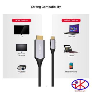CÁP TYPE-C -TO  HDMI 4K  UNITEK V1125A Dái 1,8m.(CÁP TYPE-C -> HDMI)
