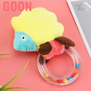 Goon Baby Rattle Newborn Ring Tinker Early Education Toys Infants Strength Training Plush Grab Toy Biting Learning Shake