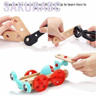 Sakurabc Sunflower Baby Kid Screw Nut Tool Box Hands-on Repair Tools Early Educational Toy
