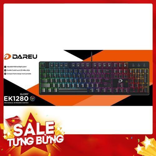 [ Nhập ELCL30K giảm 30K đơn từ 200K]Phím cơ DareU DK1280 RGB Blue/Brown/Red Switch – BH 2 năm chính hãng Giá chỉ 969.000₫