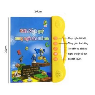 (Tặng bút viết xóa và 1 quyên sách dán nhiều hình) Sách song ngữ Anh – Việt cho trẻ nhỏ