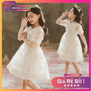 [ Hàng thiết kế ] Váy ren công chúa cực đáng yêu màu trắng kem cho bé