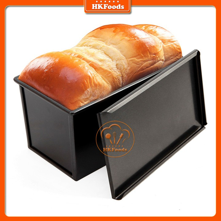 Khuôn Nướng Bánh Mì Gối Chống Dính Có Nắp Chữ Nhật 250gr