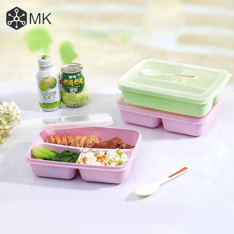 MK 5 Grid Microwave Bento Lunch Box Picnic Food Fruit Container Storage Box