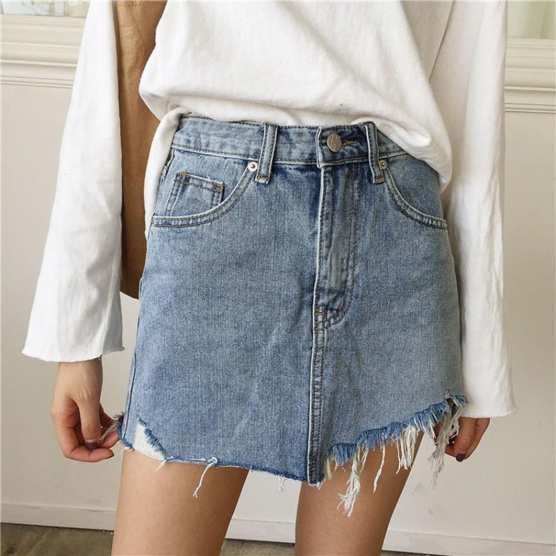 Chân váy jeans thời trang cá tính cho nữ