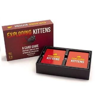 Bộ bài mèo nổ exploding kitten board (gồm 2 bộ nhỏ bên trong)