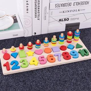 Đồ chơi toán học giúp bé nhận biết có con số