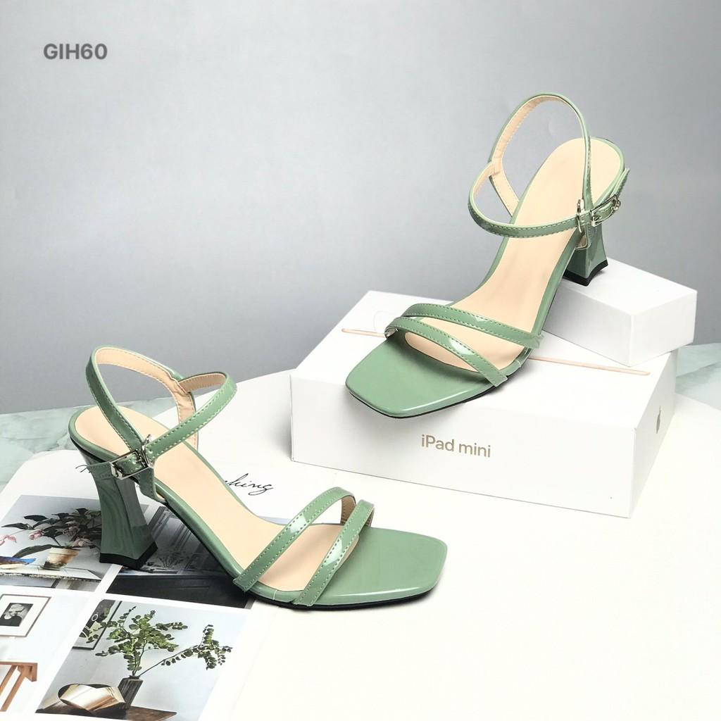 Sandal nữ BQ ❤️FREESHIP❤️ Giày sandal cao gót hai quai dây mảnh cao 8.5cm GIH60