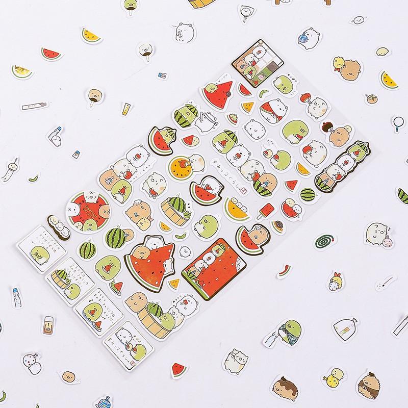 1 Miếng Dán Trang Trí Hình Sumikko Gurashi 3d Đáng Yêu