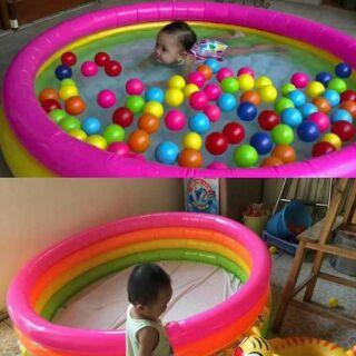 Bể bơi tròn 4 tầng cho bé yêu