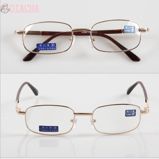 DIACHA Vision Care Presbyopic Glasses High-definition PC Frames Reading Glasses Portable Metal Unisex Eyewear Eyeglasses