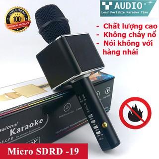 Micro Karaoke Bluetooth SD-19 ♥️Freeship♥️ Giảm 30k khi nhập MAYT30 - Micro bluetooth mic hát karaoke SD chính hãng