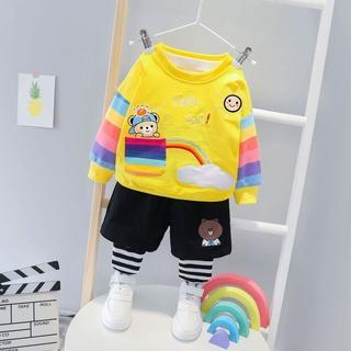 Bộ đồ áo liền quần in chữ IMPORT dành cho bé gái 2-5 tuổi