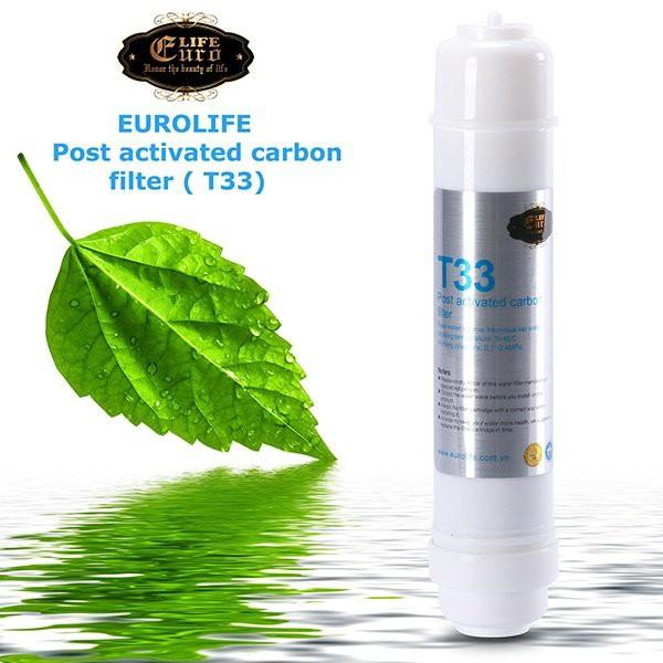 Lõi lọc T33 dùng cho máy lọc RO Eurolife (Post Activated Carbon filter) EL-T33-RO