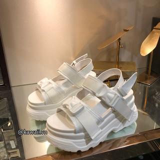 Giày BUCKLE SANDALS đế 6cm ( Ảnh thật shop tự chụp)