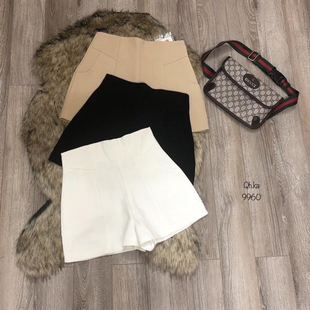 [Mã FAMAYWA giảm 10K đơn 50K] BÁN BUÔN - Quần sooc vải cạp cao cho nữ