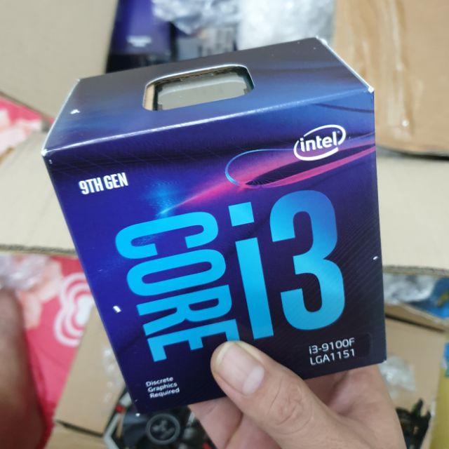 Intel I3 9100F Box nhập khẩu Giá chỉ 2.150.000₫