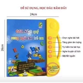 Combo sách nói song ngữ Anh Việt GGL và sét 3 vở tập tô bay chữ kèm bút