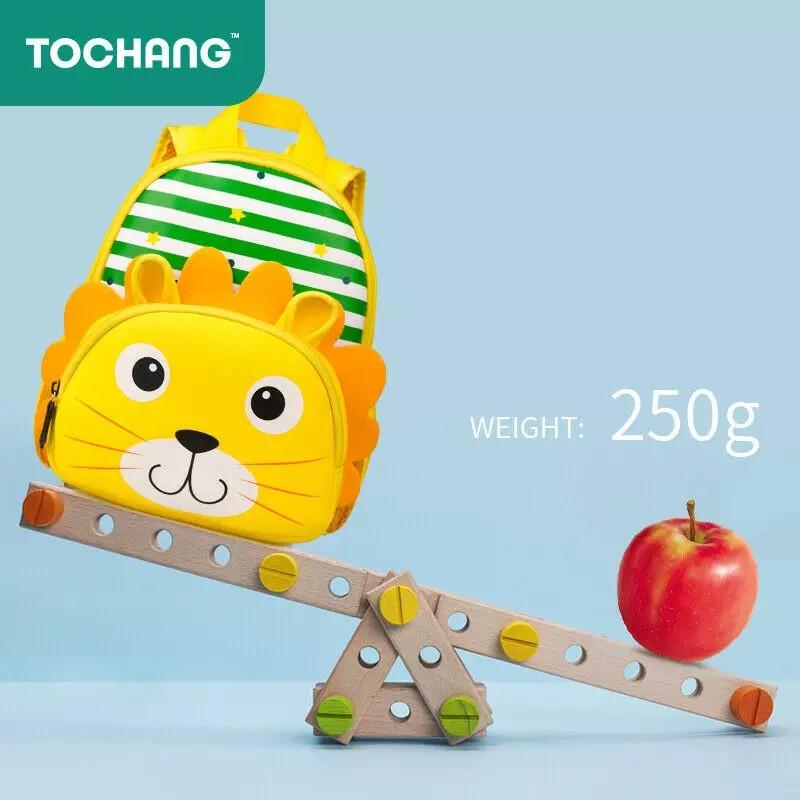 Balo cho bé mẫu giáo Tochang hình thú sư tử, siêu nhẹ, chống thấm nước cho bé