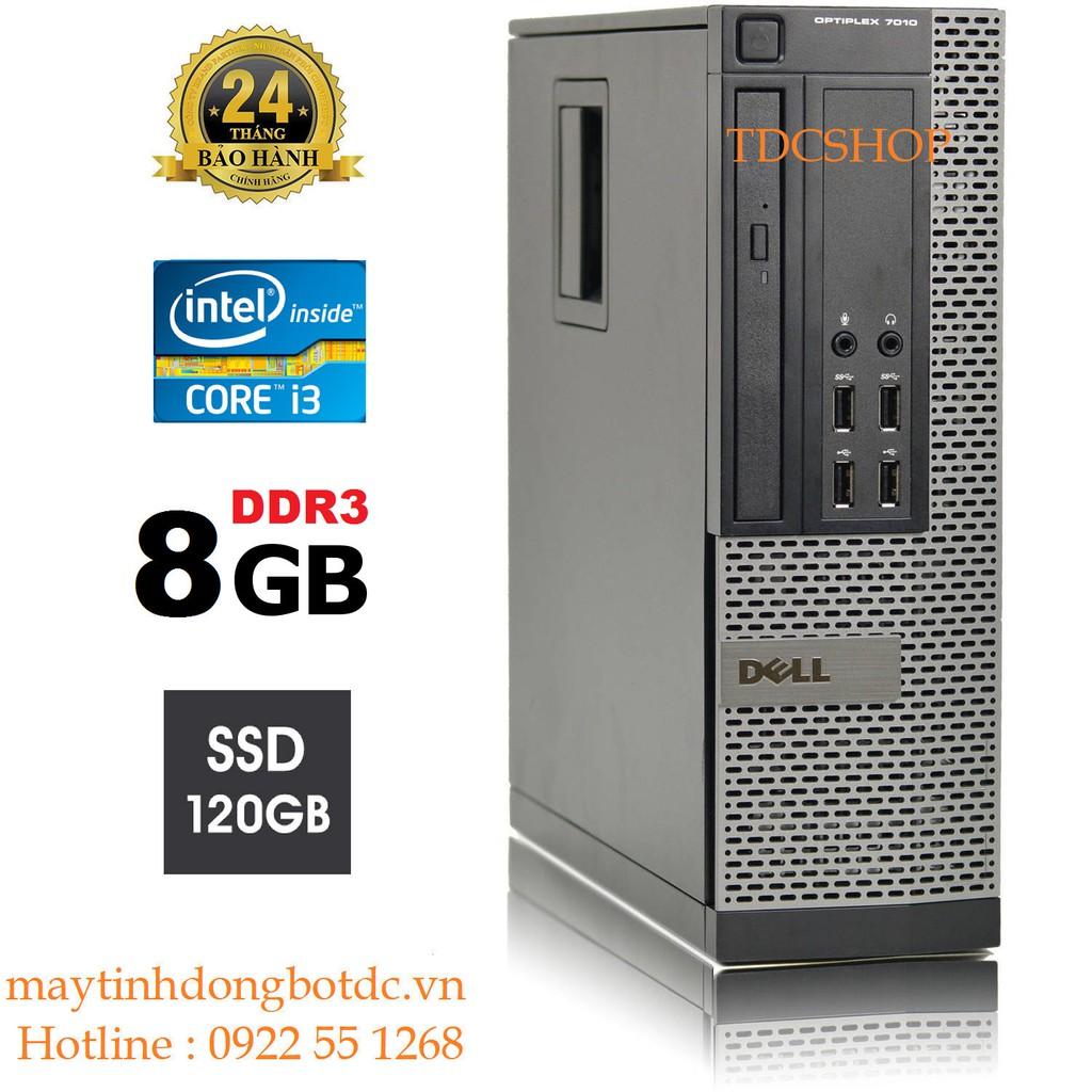 Case máy tính đồng bộ DELL Optiplex 7010 core i3 3220, ram 8gb, ổ cứng SSD 120gb. Tặng usb thu wifi. Hàng Nhập Khẩu. Giá chỉ 2.952.000₫