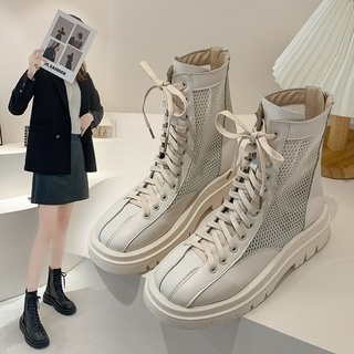 women shoes ankle mesh boots shoes thick buttom boots