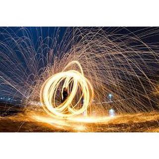 bùi nhùi thép tạo ánh sáng bản dài 50cm, rộng 10cm, chụp hình nghệ thuật 4291