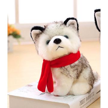 🐤Gà chạy🐤 Thú nhồi bông hình chú chó husky đang nằm dễ thương