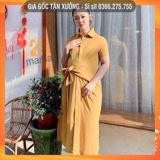 [BÁN SỈ] Đầm váy bầu dự tiệc 2MAMA thiết kế dáng suông sơmi thắt nơ ngang hông V57 thumbnail