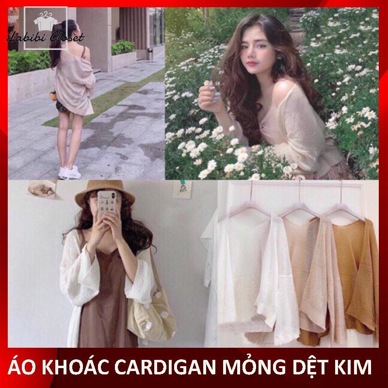 [HÀNG SẴN][Video + Ảnh thật] Áo Khoác Cardigan Mỏng Dệt Kim