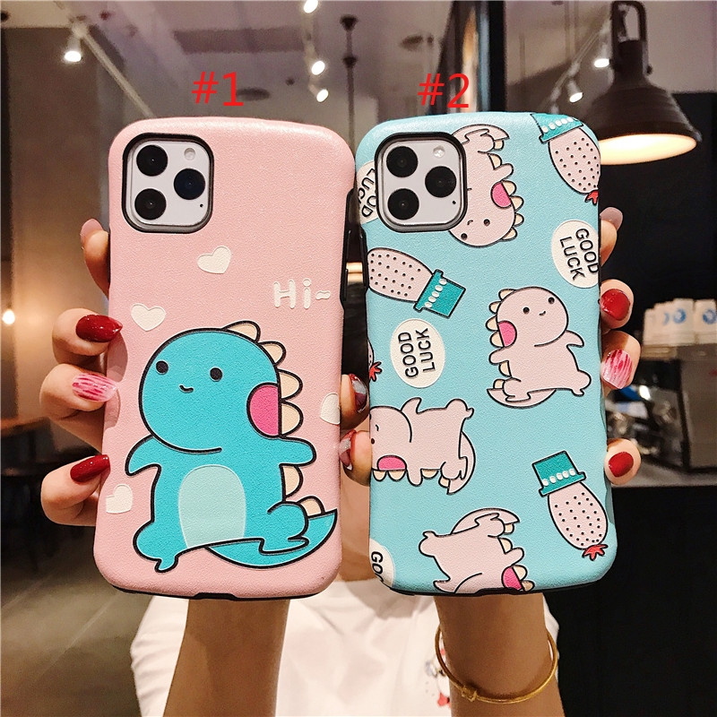iPhone 6/6s 7/8 6plus/6Splus 7plus XS XR XSMAX New Fashion Funny Dinosaur Pattern 3D Relief Silicone Case