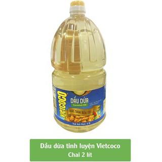 Dầu Dừa (Dầu ăn 2 Lit ) Tinh Luyện Nguyên Chất Vietcoco