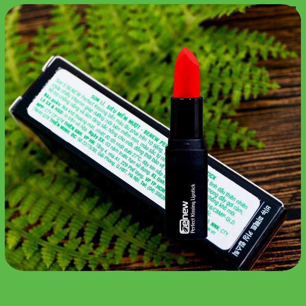 [Big Sale]  Son lì cao cấp siêu mềm mượt Benew Perfect Kissing Lipstick Màu 03 Kissing