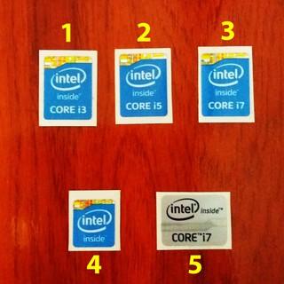 Tem Sticker Intel Core trang trí máy tính, laptop