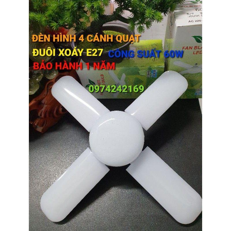 Bóng đèn hình cánh quạt siêu sáng 3 cánh 45w .4 cánh 60w.5 cánh 75w.(siêu rẻ)