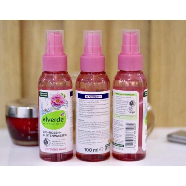 Nước hoa hồng Bio Alverde dạng vòi xịt