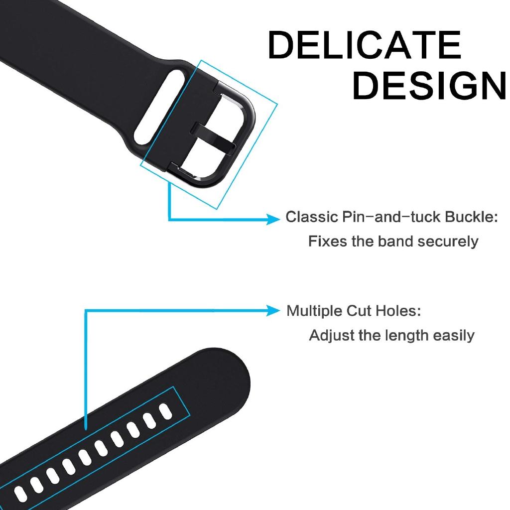 Dây đeo silicon mềm 20mm cho đồng hồ Samsung Galaxy Active 2