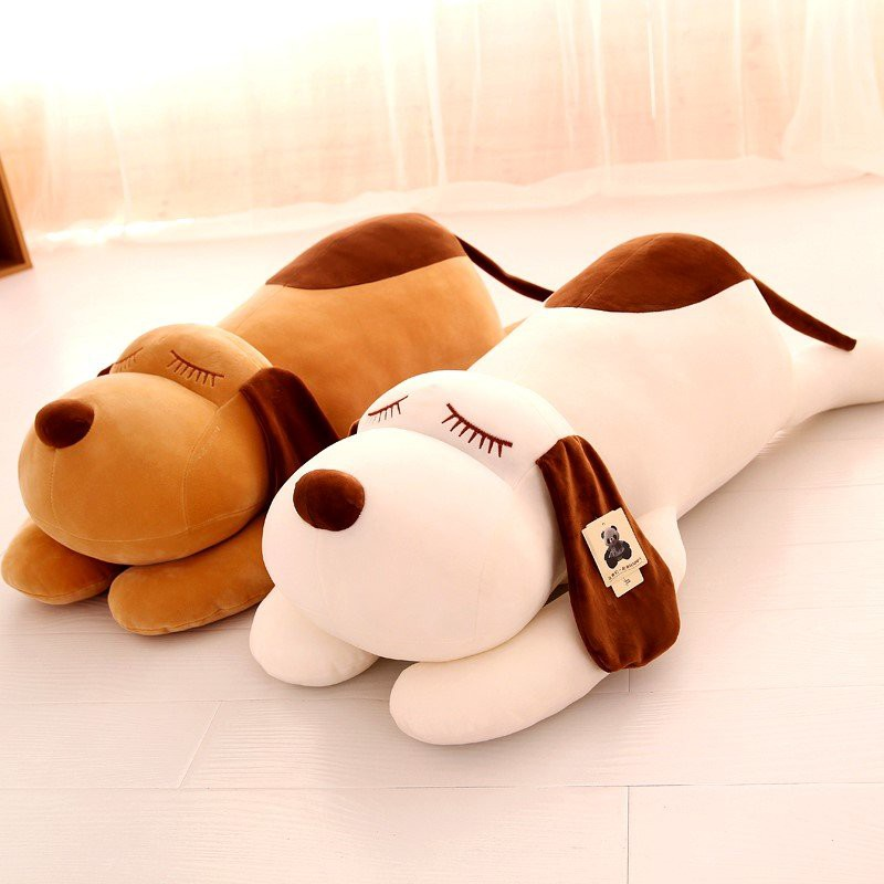 Gấu bông ,gối ôm chó dài bông cao cấp, vải co dãn 4 chiều