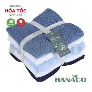 Khăn tắm cotton cao cấp. Set 5 Khăn Quick Drying Towel xuất Hàn, siêu mềm kích thước 40×78 cm