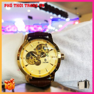 Đồng hồ , đồng hồ nam Tevise N803 Automatic, full box và thẻ bảo hành 3 năm, chống xước chống nước, dây da cao cấp thumbnail