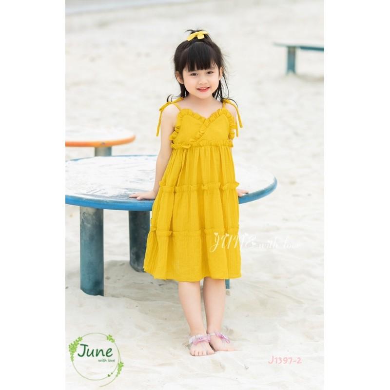 Váy hai dây bé gái june 1-10y