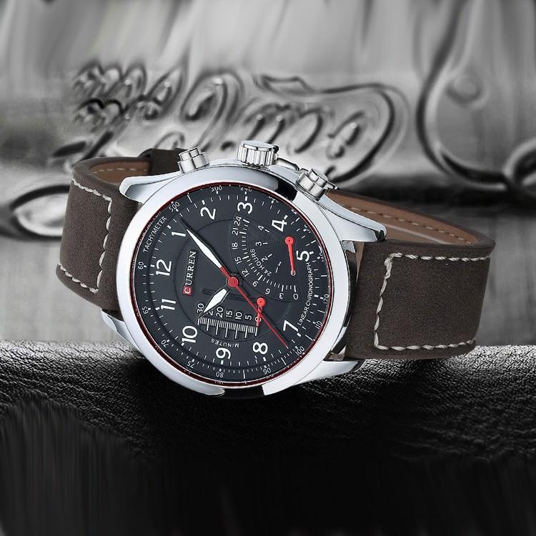 Đồng hồ Nam dây da CURREN chính hãng mã CR3012