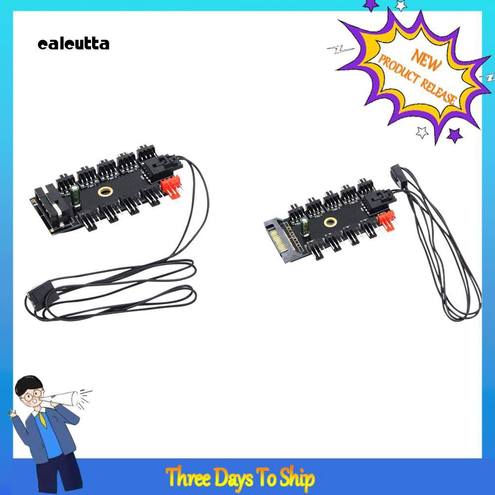 ✡DP✡PC Computer 1 to 10 Multi Way PWM Cooler Cooling Fan Hub 4/3Pin SATA/4Pin Socket Giá chỉ 49.500₫