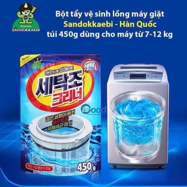 Bột tẩy vệ sinh lồng máy giặt SANDOKKAEBI Hàn Quốc - 2702942 , 42626783 , 322_42626783 , 28000 , Bot-tay-ve-sinh-long-may-giat-SANDOKKAEBI-Han-Quoc-322_42626783 , shopee.vn , Bột tẩy vệ sinh lồng máy giặt SANDOKKAEBI Hàn Quốc