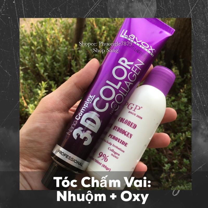 [HOT] Nhuộm Xanh Tím Sáng Nano Collagen
