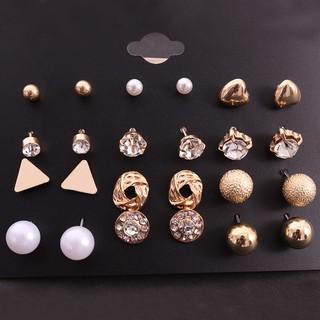 Combo 12 đôi bông tai nữ siêu đẹp thumbnail