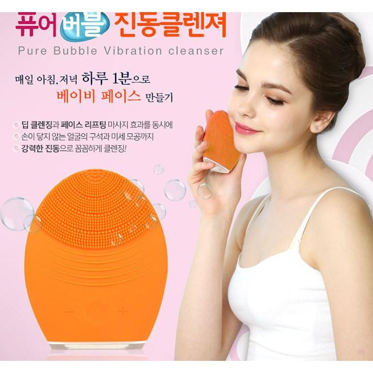 Máy rửa mặt Pure Bubble Vibration Cleanser - Nội địa Hàn Quốc - 2400242 , 416823072 , 322_416823072 , 250000 , May-rua-mat-Pure-Bubble-Vibration-Cleanser-Noi-dia-Han-Quoc-322_416823072 , shopee.vn , Máy rửa mặt Pure Bubble Vibration Cleanser - Nội địa Hàn Quốc