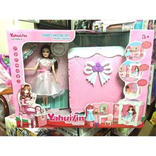 Vali kéo phòng ngủ công chúa búp bê Barbie