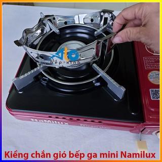 Kiềng chắn gió bếp ga mini - bếp gas du lịch -  giúp tiết kiệm gas - được làm bằng thép không gỉ - Alo Bếp Xinh