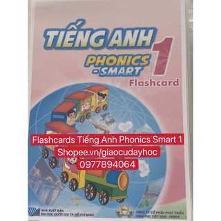 Flashcards Tiếng Anh Smart Phonics 1 -ép plastics  bền đẹp